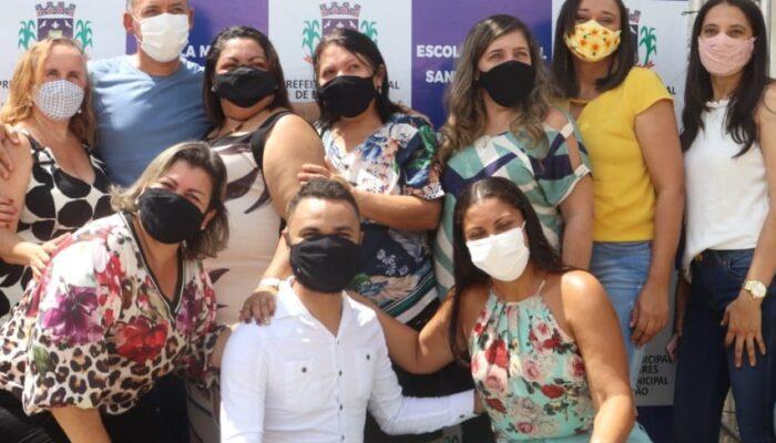 Retorno das aulas presenciais da rede municipal Buenos Aires contou com gestos de acolhida aos profissionais da educação